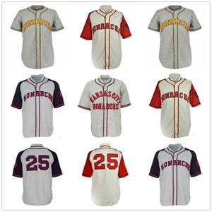 Kansas City Monarchs 1942 Início Estrada Jersey Tudo costurado das mulheres Homens Juventude Retro Jerseys Baseball