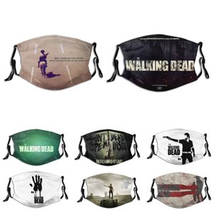 face mask  face masks  American TV series The Walking Dead zombie print theme mask dustproof and breathable mask