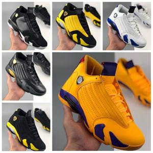 14 14S XIV 2020 Mens Basketball Chaussures Université Or Jaune Violet Black Jumpman Entraîneurs Sports Sports Sports des Chaussures Taille 13