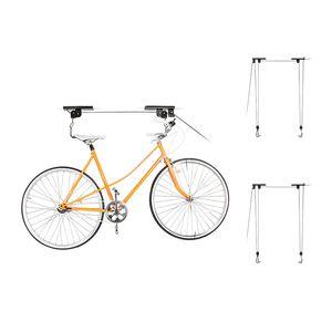 Lift Cargo plafond Porte pour vélo Vélo de stockage Garage Hanger Palan à poulie Poulie rack suspendu Assemblées de levage en métal