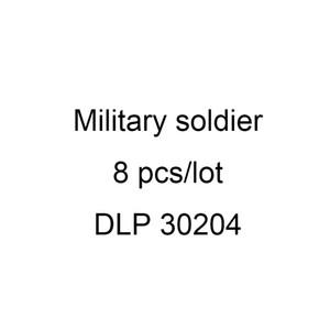 DLP 30204 der neuen Ankunfts-8pcs Lot Zweiten Weltkrieg Militär Mini-Spielzeug-Abbildung Brick WW2 Die Schlacht von Berlin Deutsche Armee Bauklotz
