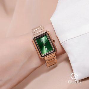 Frauen-Uhren 2020 Luxus-Retro-Quarz-Armbanduhr Einfache Wasserdichte Kalender Dame Handgelenk Uhr Frau Elegante Frauen-Uhr-Frauen
