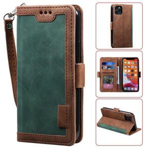 Luxe Rétro en cuir magnétique de cas pour l'iPhone 12 11 Pro XS Max XR X 7 8 Plus Wallet flip titulaire de la carte Téléphone Stand Cover Samsung S20 Coque