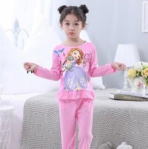 Kızlar Noel Pijama Prenses Giyim Bebek 2pc Uzun Kollu Pamuk kıyafeti Boys Pijama Çocuk Giyim Çocuk Sleepwear ayarlar