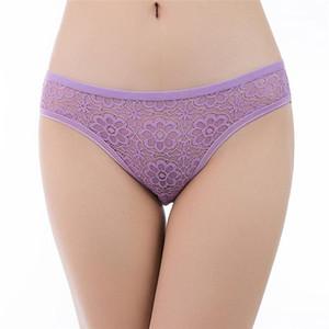 Roupa interior cor sólida oco Out Mulheres Briefs Mulheres Designer Sexy Lace Panties Floral Moda Impresso Confortável