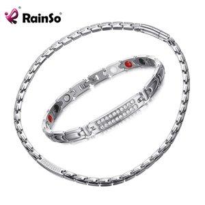 Rainso Германий Magnetic Healthy комплект ювелирных изделия корейских популярные Восхитительные ожерелья браслетов для Леди магнитотерапии ювелирных изделий