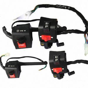 """Moto 7/8"""" Controllo manubrio Interruttore dell'avvisatore acustico segnale di girata della nebbia del faro Lampada elettrica Interruttore di avviamento Moto Parti per DY100 0s20 #"""