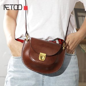 AETOO Handmade women's bag, mini small cross bag, head leather lady one-shoulder bag