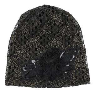 Exquisite Bandanas Hair Accessories Elegant Lace Women Hats Head Wrap Summer Fashion Easy Matching Floral Chemo Cap Soft