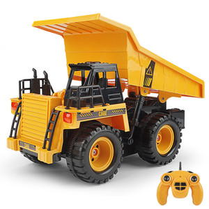 2020 Cross-border 2.4g remote-controlled dump truck Big truck model with music children's car toy manufacturer direct C36