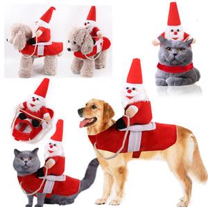 2021 ropa para perros grandes de la Navidad, fuentes del gato del animal doméstico, trajes de equitación, trajes de Santa Claus, extraño pequeñas, medianas y grandes