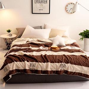 Solid Color Flannel Coral Fleece Blanket Adult Blankets for Beds Sofa Summer Winter Throw Blanket Children Bedspread on the bed
