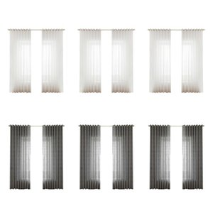 Pure Color Windows Tulle Curtains Bedroom Yarn Drapes Modern Living Room Sheer for Household Living Room Accessories