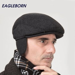 2020 Brand New Winter Beret Hat Thicken Cap Ear Cap snapback Woolen Solid Stripe Foldable Hats casquette Gorras Planas Flat Caps