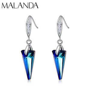 Pendentif de Spike Malanda Marque Fashion Boucles d'oreilles en cristal De Boucles d'oreilles pour les femmes Dangle mariage bijoux cadeau