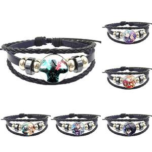 Nouvelle marque de bijoux avec Cabochon en verre Bracelet en cuir noir Bracelet pour les femmes épée Art Manga en ligne Kirigaya Kazuto Asuna