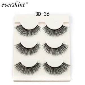 Wholesale False Eyelashe Natural Eyelashes Mink Lashes 3d Hand Made Reusable Popular Synthetic Hair Makeup #3d-36