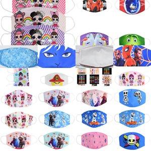 Tuch Ski Kids Baumwolle Gesicht Mund-Maske Cartoon Jugend Kinder Masken für Kid Puuvill Barbijos