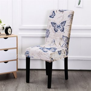 JH Beautiful Butterfly Printing Home Livingroom Suede Fabric Upholstery Elastic Chair Sets Winter Seat Cover General Soft Chair Cover