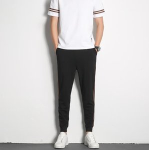 Short Sleeve Trousers Homme 2PCS Sets Fashion Solid Color Male Clothing Slim Mens Pullover Sports Tracksuits