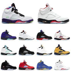 5 Men Basketball Shoes 2020 Fire Red 5s Alternate Bel Alternate Grape Island Green Paris Mens Trainer Sport Sneakerss size 7-13