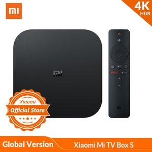 Küresel Sürüm Xiaomi Mi TV Box S 4K HDR Android TV Streaming Media Player ve Google Yardımcısı Uzaktan Smart TV MiBox S