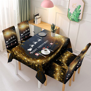 Natal Toalha de Cozinha Mesa de jantar retangular Tabela Detalhes no Covers Decoração Para Casa Natal de Ano Novo DHL frete grátis