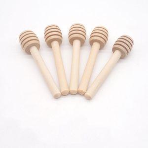 Bâton de miel en bois Mini Moine Honey Dielper Agitateur Poignée de cuisson Stick Stick Cuisine Accessoires Assistante Mariage Party Gifls 8cm DHE3747