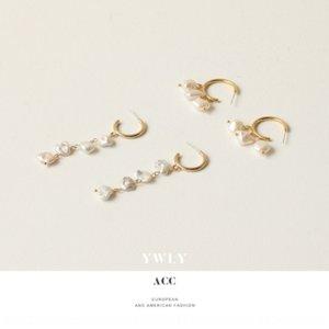 yRovM Baroque geformte Perle und Perlenohrringe der Frauen Französisch Artfee Stil lange Quaste Ohrringe Ohrringe
