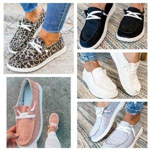 Moda loafer'lar Sneakers Leopard Kadın Casual Flats Süet Ayakkabı Kayma çapraz kayış 5 stilleri ile tembel Ayakkabı Baskı GGA3725-1