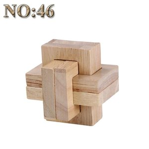 Game Kit For Block 53 Interlocked Toy Building Children 53 Educational 29 Cube 3d Toys Puzzle Kinds Brain Wooden Model Teasers pJmqE