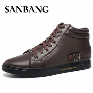 New Fashion Men Winter Genuine Leather Shoes Solid Color Snow Boots Plush Inside Antiskid Bottom Keep Warm Waterproof Kx5 Cheap Shoes gIGs#