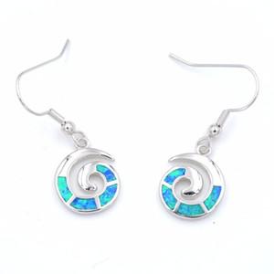 2020 Новое прибытие Ocean Theme Swirl Design Opal серьги
