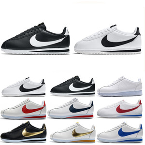 Nike Cortez Haute qualité Hot nouvelles marques hommes Casual Chaussures et femmes chaussures cortez Shells loisirs chaussures mode en cuir en plein air Chaussures de sport MN156