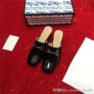 2020 women's slippers Trend all-match latest design for rivets new international Elegant free from vulgarity with buckle