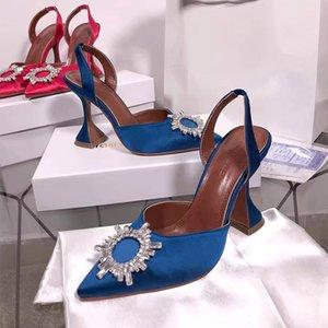 2020 Cork con borchie a punta Sandali donna cristallo scarpe tacco alto pompe sexy dei sandali trasparenti Tacchi