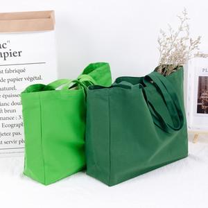 Eco-friendly Fashion Shopping bag Canvas Cotton Clothes Handbag School Student book bag Shipping