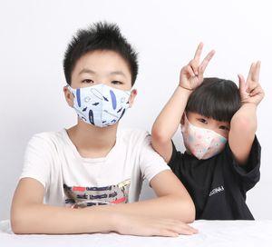 ice silk cartoon kids face mask fashion face masks animal camo protective printed dust-proof anti-haze washable children's mask