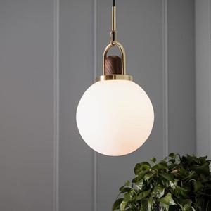 Lambalar Başucu Odası Süspansiyon Aydınlatma Lüks Ev Dekorasyonu Asma Modern Cam Topu Kolye Işıklar Armatür Armatür Nordic Wood