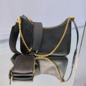 Bolso de cuero genuino HOBO Crossbody Bolsa Bolsa de hombro para mujeres bolsas de moda Lady Cadens Bolsos Cuero Hobo Cadena Bolsa Messenger