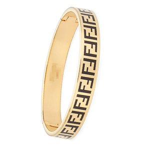 2020 Marcas designs de jóias de luxo Bracelet para as Mulheres moda de alta qualidade para senhoras com Red preto Bangle Titanium canal ff aço