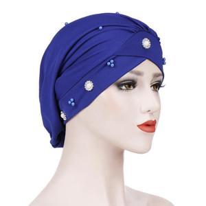 Sagace Hat Frauen-feste Bördeln Indien Hat Muslim Ruffle Cancer Chemo Beanie Turban Wrap Cap Damen Freizeit Bequeme Grls Cap
