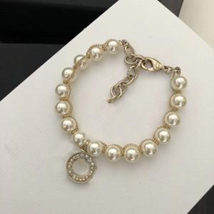 Tienen sellos pulseras de perlas brazaletes de la manera amantes boda del partido de las mujeres regalo de compromiso jewyelry para la novia con la CAJA