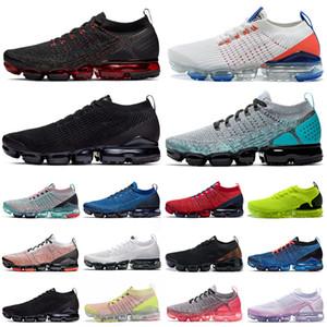 nike air vapormax 3.0 flyknit vapors max vapor koşu ayakkabıları üçlü siyah beyaz Gri Volt erkek eğitmenler doğa sporları ayakkabı womens