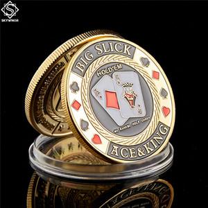 Brisbane Playapl Позолоченных Сувенирных коллекций монет Poker Card Guard с монетами Капсулы Показать