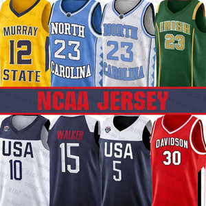 NCAA 12 Ja Моран команды США Джерси 5 Донован Митчелл Kemba Walker 10 Джейсон Татум Баскетбол Северная Каролина 23 Майкл Леброн 23 Джеймсу