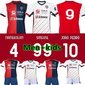 20 21 Cagliari Calcio Fußball Trikots Centenary Kit João Pedro begrenzt Shirt Ausgabe Nainggolan 2020 2021 maglie Fußball da Jahrestag