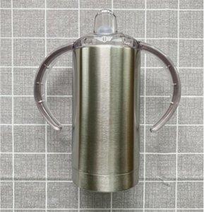 Sublimação copos de aço inoxidável mamadeiras vácuo garrafa isolados Água Unbreakable Sippy Cup Com Handle TRANSPORTE MARÍTIMO GWE1686