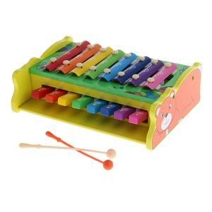 1 Set 8 Key Wood Xylophone With Mallets Early Educational Toy For Kids