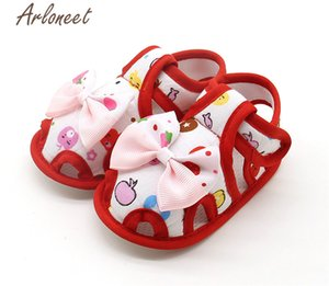 ARLONEET 2020 baby boys Girls baby cotton fabric Canvas Anti-slip Shoes Bownot Sneaker Soft Sole Toddler Cloth Crib Shoes